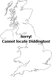 map showing location of Diddington, Cambridgeshire