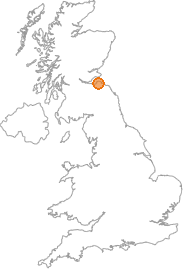 map showing location of Dirleton, East Lothian
