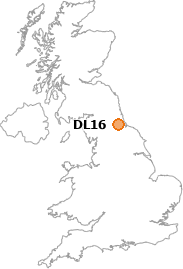 map showing location of DL16