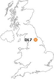 map showing location of DL7