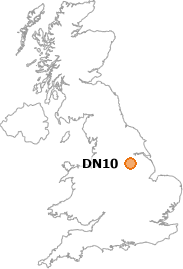 map showing location of DN10
