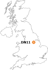 map showing location of DN11