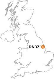 map showing location of DN37