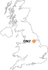 map showing location of DN7