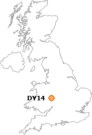 map showing location of DY14