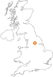 map showing location of East Rigton, West Yorkshire