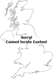 map showing location of Easton, Cambridgeshire