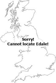 map showing location of Edale, Derbyshire