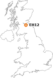 map showing location of EH12