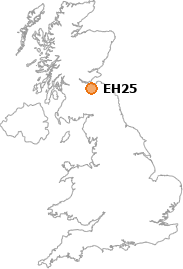 map showing location of EH25
