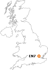 map showing location of EN7