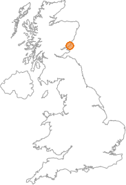 map showing location of Ethie Mains, Angus