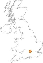 map showing location of Ewelme, Oxfordshire