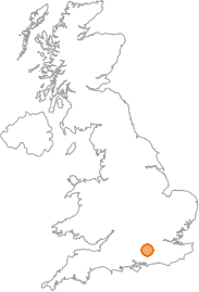 map showing location of Farnborough, Hampshire