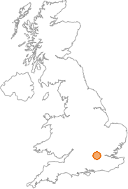 map showing location of Farnham Common, Buckinghamshire