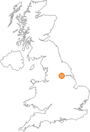 map showing location of Ferrybridge, West Yorkshire