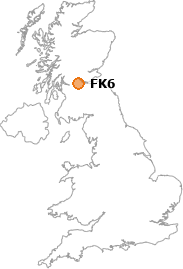 map showing location of FK6