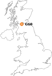 map showing location of G68