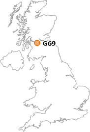 map showing location of G69