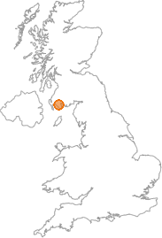 map showing location of Garlieston, Dumfries and Galloway