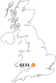 map showing location of GL51