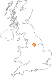 map showing location of Grange Moor, West Yorkshire