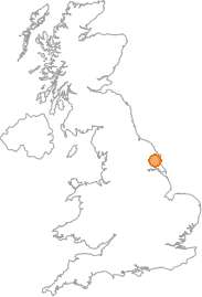 map showing location of Great Kelk, E Riding of Yorkshire