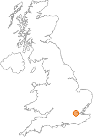 map showing location of Greenwich, Greater London