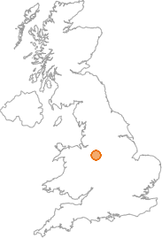 map showing location of Hanley, Stoke-on-Trent