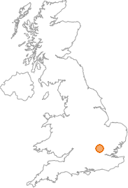 map showing location of Harpenden, Hertfordshire