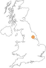 map showing location of Helmsley, North Yorkshire