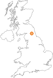 map showing location of Hexham, Northumberland