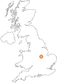 map showing location of Hickling, Nottinghamshire