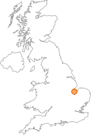 map showing location of Holbeach, Lincolnshire