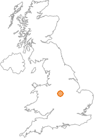 map showing location of Horninglow, Staffordshire