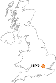 map showing location of HP2