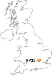 map showing location of HP23