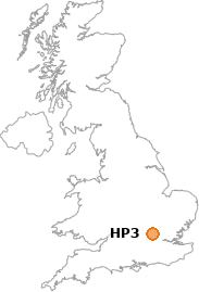 map showing location of HP3