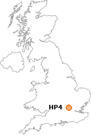 map showing location of HP4
