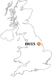 map showing location of HU15