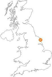 map showing location of Hunmanby, North Yorkshire