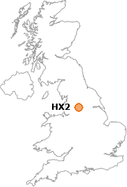 map showing location of HX2