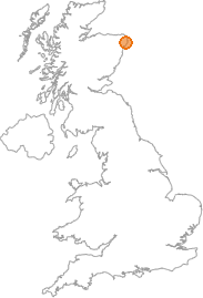 map showing location of Hythie, Aberdeenshire