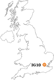 map showing location of IG10