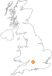 map showing location of Inglesham, Swindon