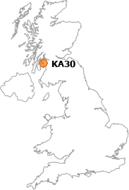 map showing location of KA30