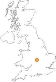 map showing location of Kenilworth, Warwickshire