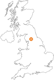 map showing location of Kirkby Stephen, Cumbria