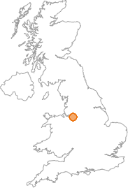 map showing location of Knutsford, Cheshire