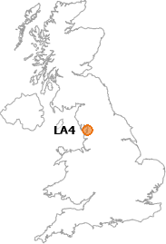 map showing location of LA4